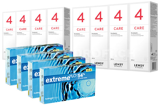 Extreme H2O 54% & Lensy Care 4, Jahres-Sparpaket