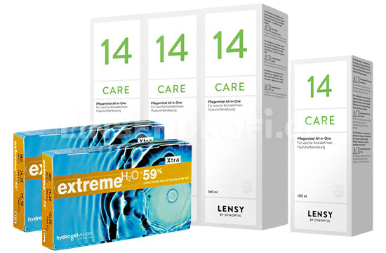 Extreme H2O 59 Xtra & Lensy Care 14, Halbjahres-Sparpaket