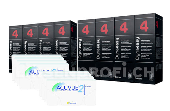 Acuvue 2 & Lensy Care 4, Jahres-Sparpaket