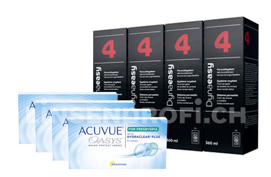 Acuvue Oasys for Presbyopia & Lensy Care 4, Halbjahres-Sparpaket