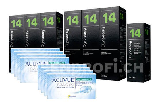 Acuvue Oasys for Presbyopia & Lensy Care 14, Jahres-Sparpaket