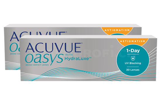 Acuvue Oasys 1-Day with HydraLuxe for Astigmatism (2x30 Stück)