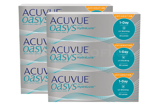 Acuvue Oasys 1-Day with HydraLuxe for Astigmatism (2x90 Stück), SPARPAKET 3 Monate