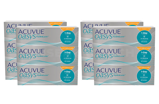 Acuvue Oasys 1-Day with HydraLuxe for Astigmatism (2x180 Stück), SPARPAKET 6 Monate