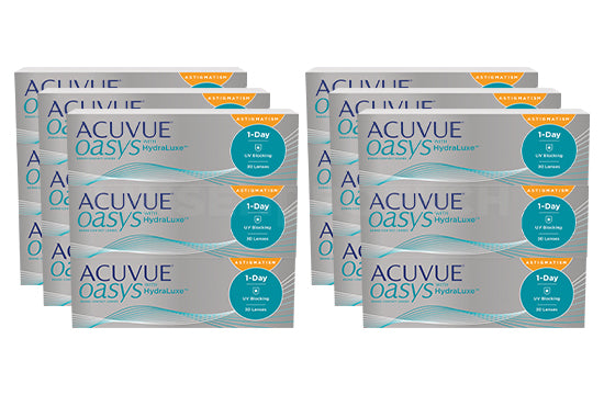 Acuvue Oasys 1-Day with HydraLuxe for Astigmatism (2x270 Stück), SPARPAKET 9 Monate