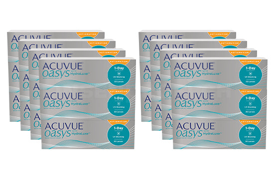 Acuvue Oasys 1-Day with HydraLuxe for Astigmatism (2x360 Stück), SPARPAKET 12 Monate