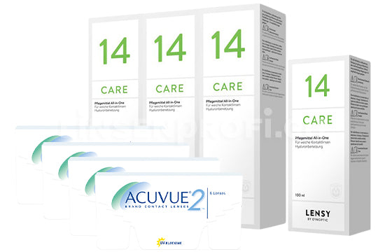 Acuvue 2 & Lensy Care 14, Halbjahres-Sparpaket