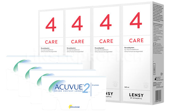 Acuvue 2 & Lensy Care 4, Halbjahres-Sparpaket
