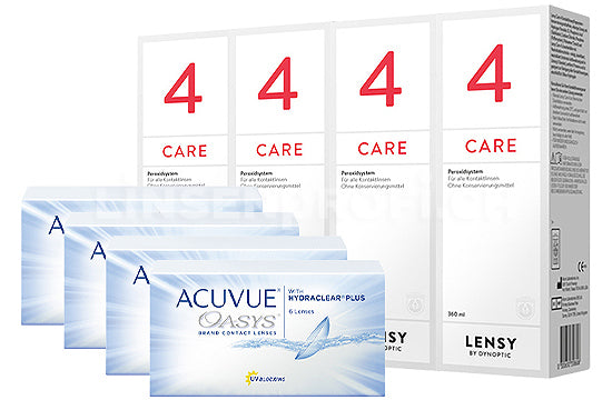Acuvue Oasys & Lensy Care 4, Halbjahres-Sparpaket
