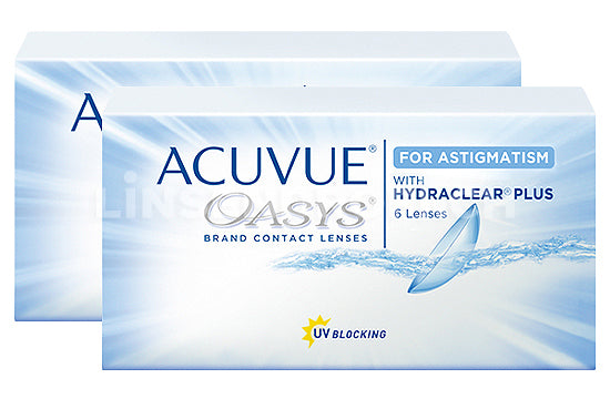 Acuvue Oasys for Astigmatism (2x6 Stück), SPARPAKET 3 Monate
