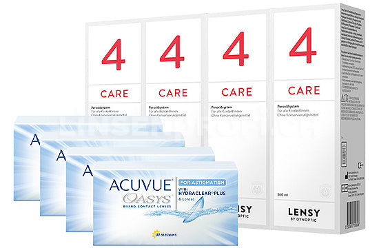 Acuvue Oasys for Astigmatism & Lensy Care 4, Halbjahres-Sparpaket