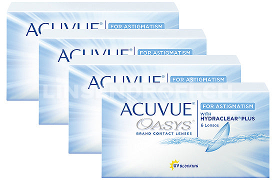 Acuvue Oasys for Astigmatism (4x6 Stück), SPARPAKET 6 Monate