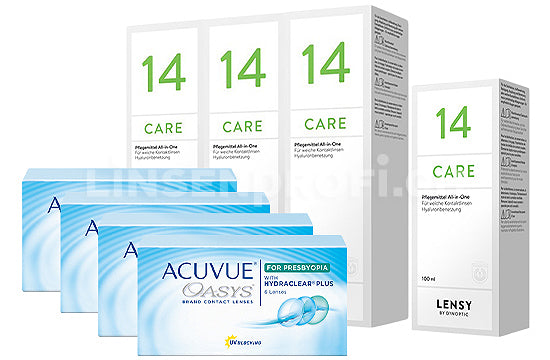 Acuvue Oasys for Presbyopia & Lensy Care 14, Halbjahres-Sparpaket