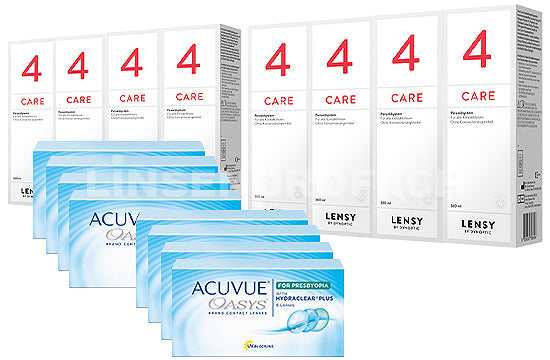 Acuvue Oasys for Presbyopia & Lensy Care 4, Jahres-Sparpaket