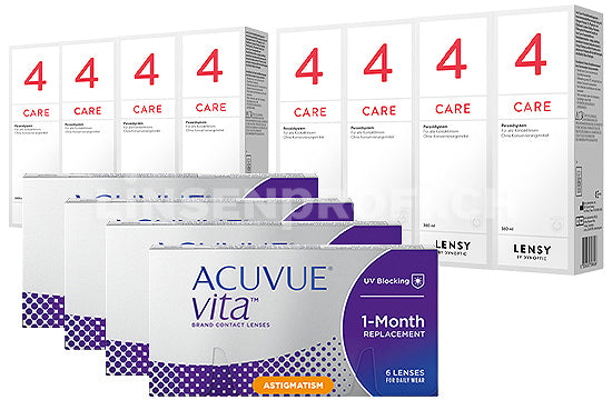 Acuvue Vita for Astigmatism & Lensy Care 4, Jahres-Sparpaket