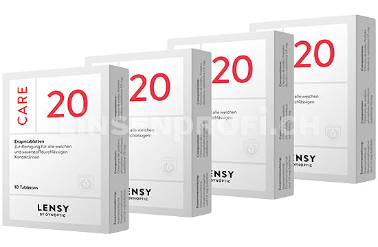 Dynaeasy 20 neu Lensy Care 20 (4x10 Tabletten)