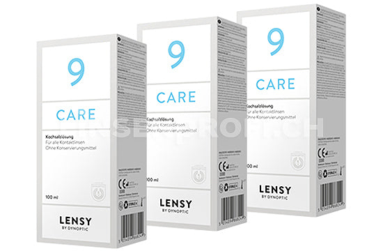 Dynaeasy 9+ neu Lensy Care 9 (3x100ml)