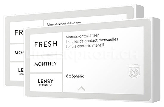 Lensy Monthly Fresh Spheric (2x6 Stück), SPARPAKET 6 Monate