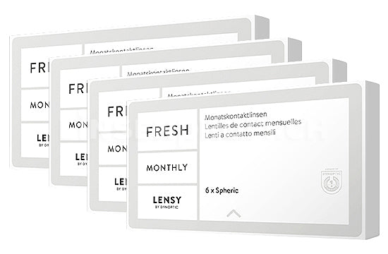 Lensy Monthly Fresh Spheric (4x6 Stück), SPARPAKET 12 Monate