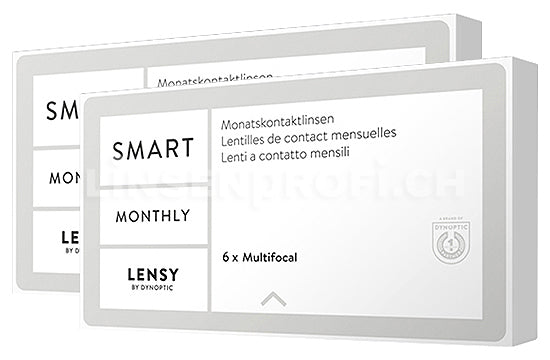 Lensy Monthly Smart Multifocal (2x6 Stück), SPARPAKET 6 Monate
