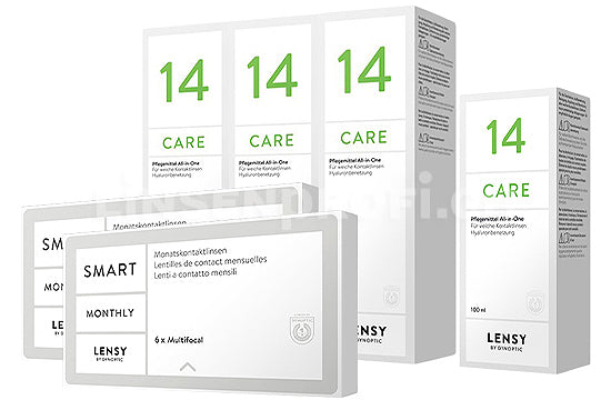 Lensy Monthly Smart Multifocal & Lensy Care 14, Halbjahres-Sparpaket