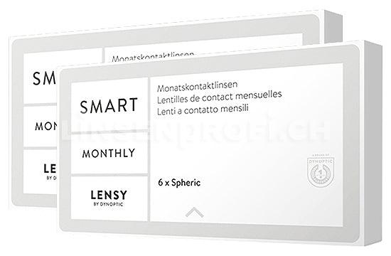 Lensy Monthly Smart Spheric (2x6 Stück), SPARPAKET 6 Monate