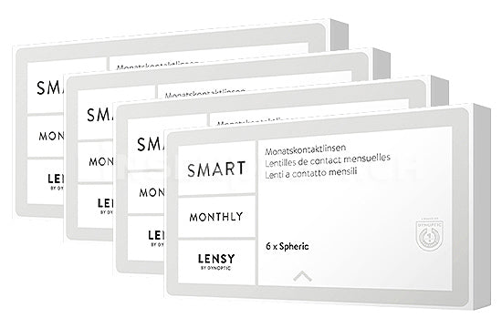 Lensy Monthly Smart Spheric (4x6 Stück), SPARPAKET 12 Monate