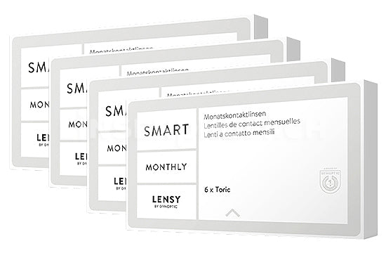 Lensy Monthly Smart Toric (4x6 Stück), SPARPAKET 12 Monate