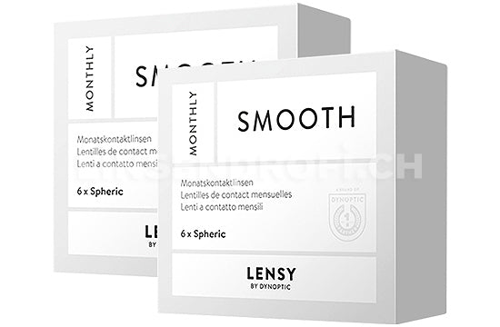 Lensy Monthly Smooth Spheric (2x6 Stück), SPARPAKET 6 Monate