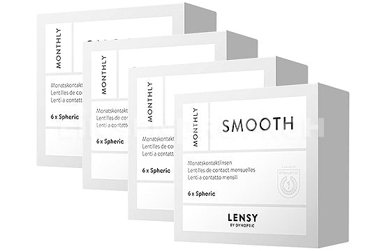 Lensy Monthly Smooth Spheric (4x6 Stück), SPARPAKET 12 Monate