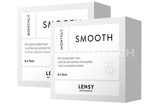 Lensy Monthly Smooth Toric (2x6 Stück), SPARPAKET 6 Monate