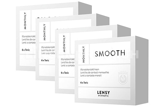 Lensy Monthly Smooth Toric (4x6 Stück), SPARPAKET 12 Monate
