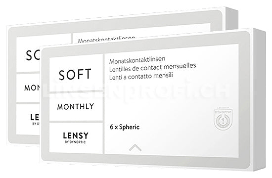 Lensy Monthly Soft Spheric (2x6 Stück), SPARPAKET 6 Monate