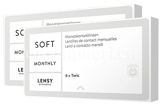 Lensy Monthly Soft Toric (2x6 Stück), SPARPAKET 6 Monate