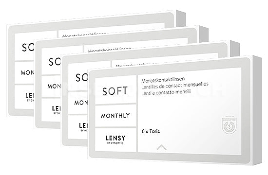 Lensy Monthly Soft Toric (4x6 Stück), SPARPAKET 12 Monate