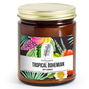 TROPICAL BOHEMIAN: Coconut, Brown Sugar, & Fig Scented Soy Candle