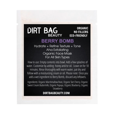 Organic Facial Mask- Berry Bomb Single use