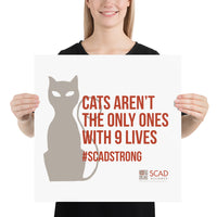 SCAD Cat Poster