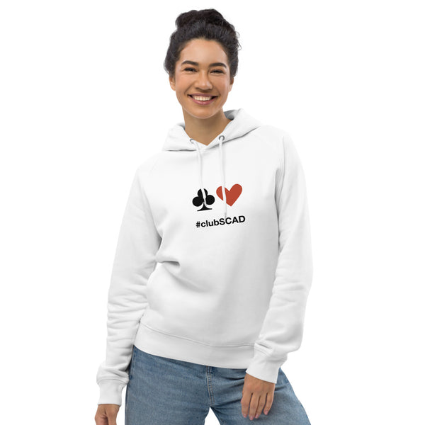 #clubSCAD Unisex pullover hoodie, Organic Cotton