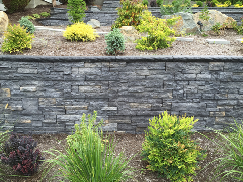 Black Rundle Retaining Wall