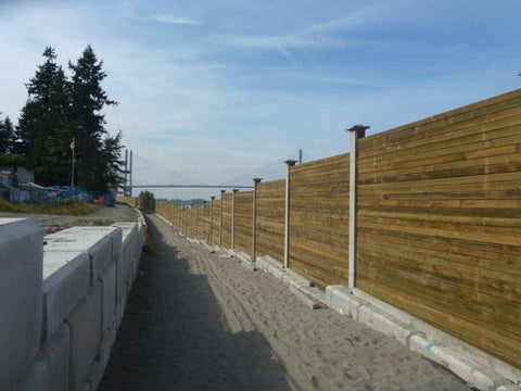 Wood-Concrete Hybrid Sound Barrier Walls
