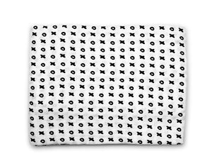 Organic Cotton Muslin Swaddle - XOXO - Modern Crib Bedding