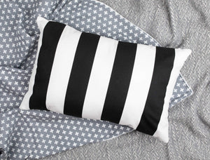 Black & White Stripe Accent Pillow - Insert included - Modern Crib Bedding
