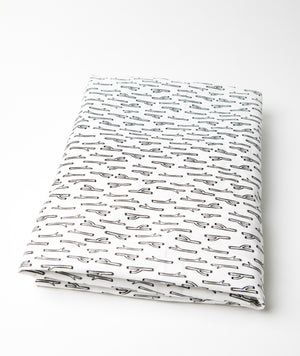 Tiny Twig Fitted Crib Sheet Black and White Cotton Percale - Modern Crib Bedding