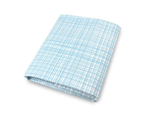 Blue and White Crib Sheet