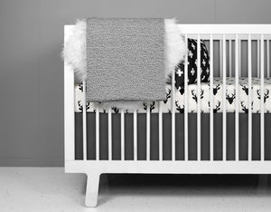 Deer Crib Bedding Set Modern Woodland Design - Olli+Lime
