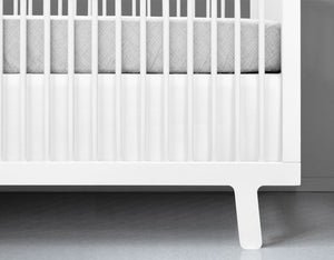 White Crib Skirt Cotton Twill - Modern Crib Bedding