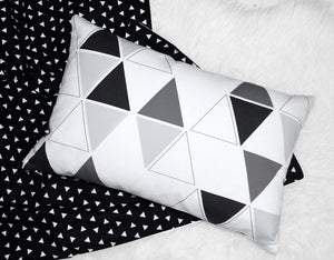 Triangle Accent Pillow - Insert included - Modern Crib Bedding