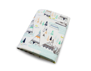 Teepee Fitted Crib Sheet - Olli+Lime