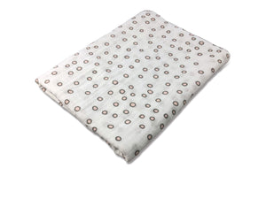 Bubbles Pink and Grey Swaddle Blanket - Modern Crib Bedding